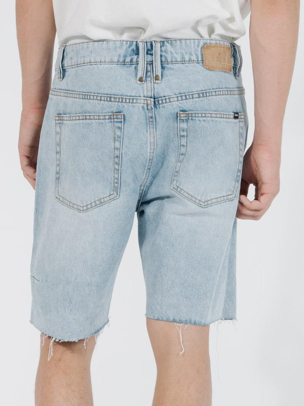 Chopped Denim Short - Time Worn Blue