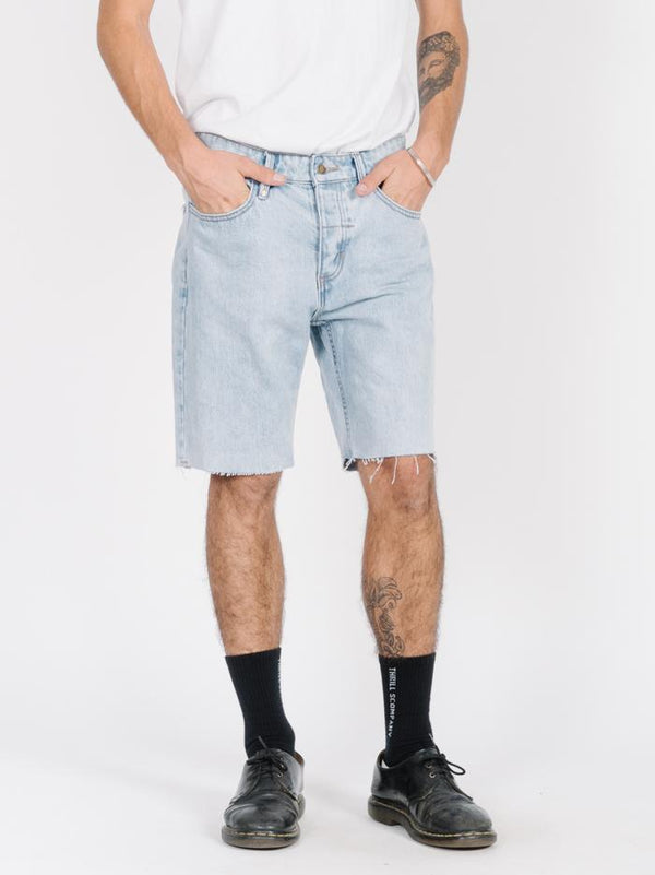 Chopped Denim Short - Wasted Blue