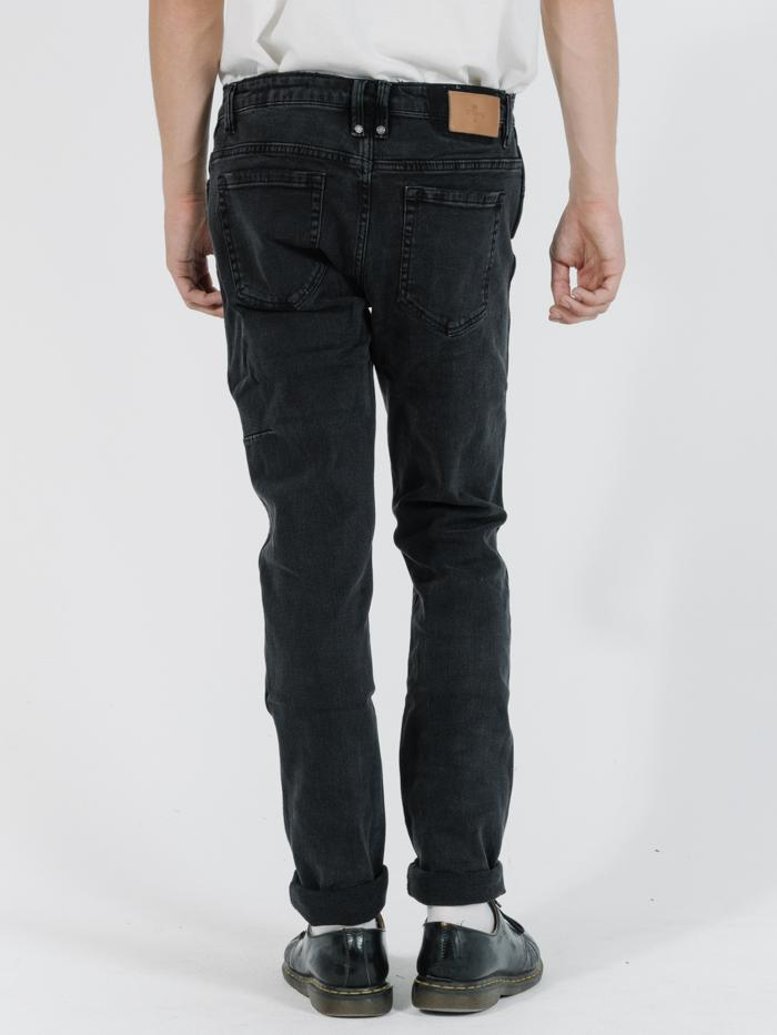 DESTROY BONES JEAN - FADED BLACK