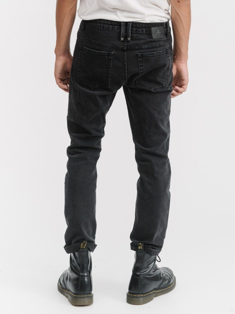 Destroyed Bones Jean - Faded Black