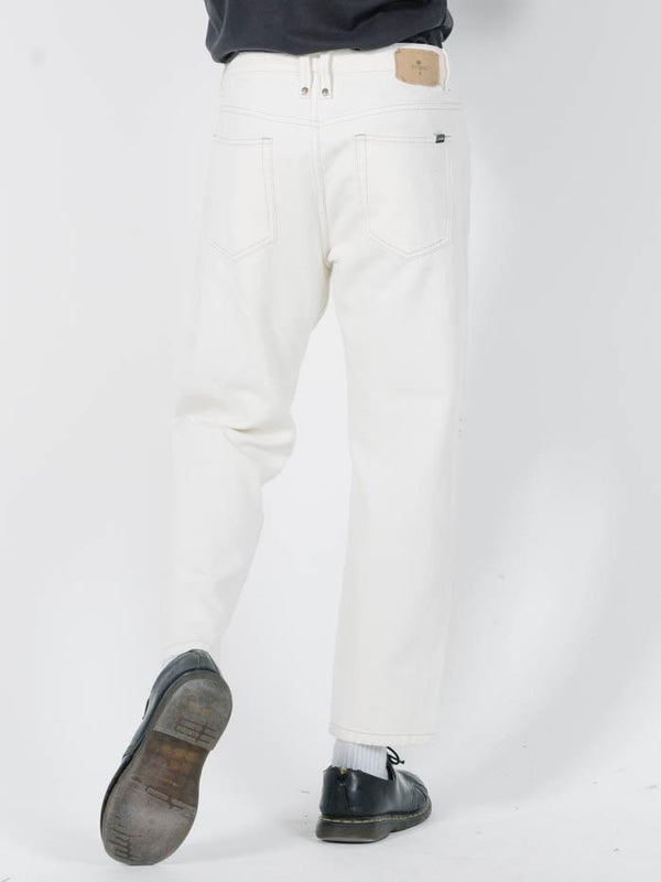 Chopped Denim Jean - Shady White