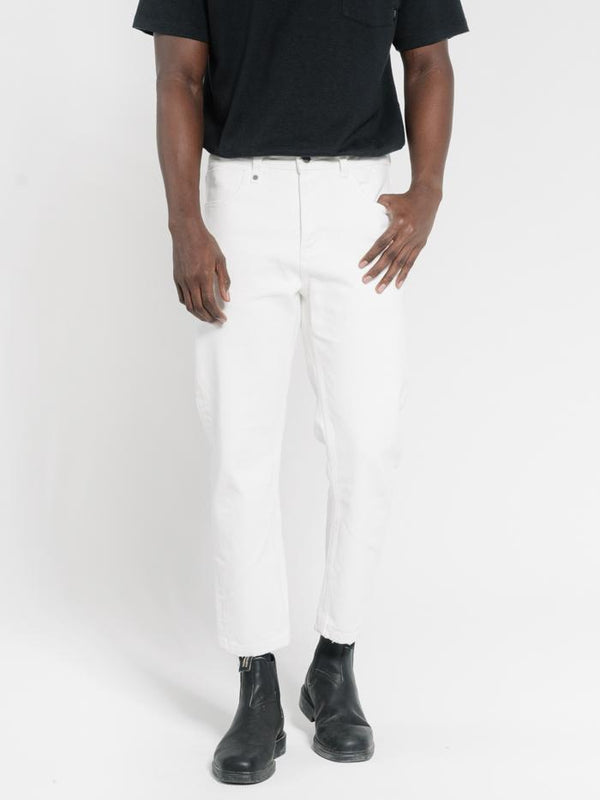 Chopped Denim Jean - Optic White