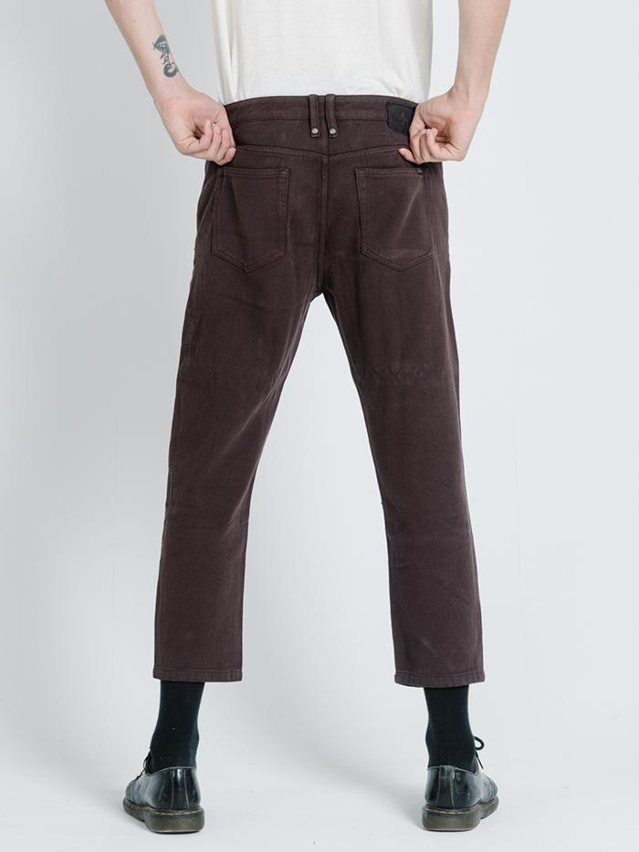 Chopped Denim Jean - Postal Brown