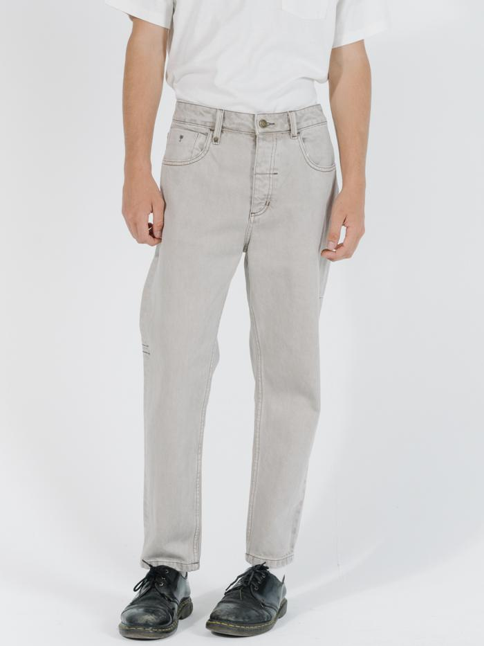 Chopped Denim Jean - Oat