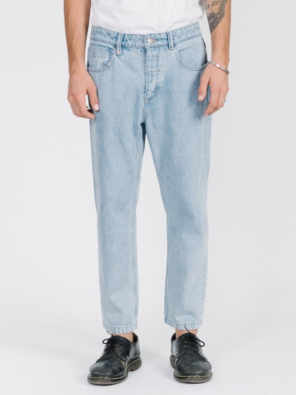 Chopped Denim Jean - Wasted Blue