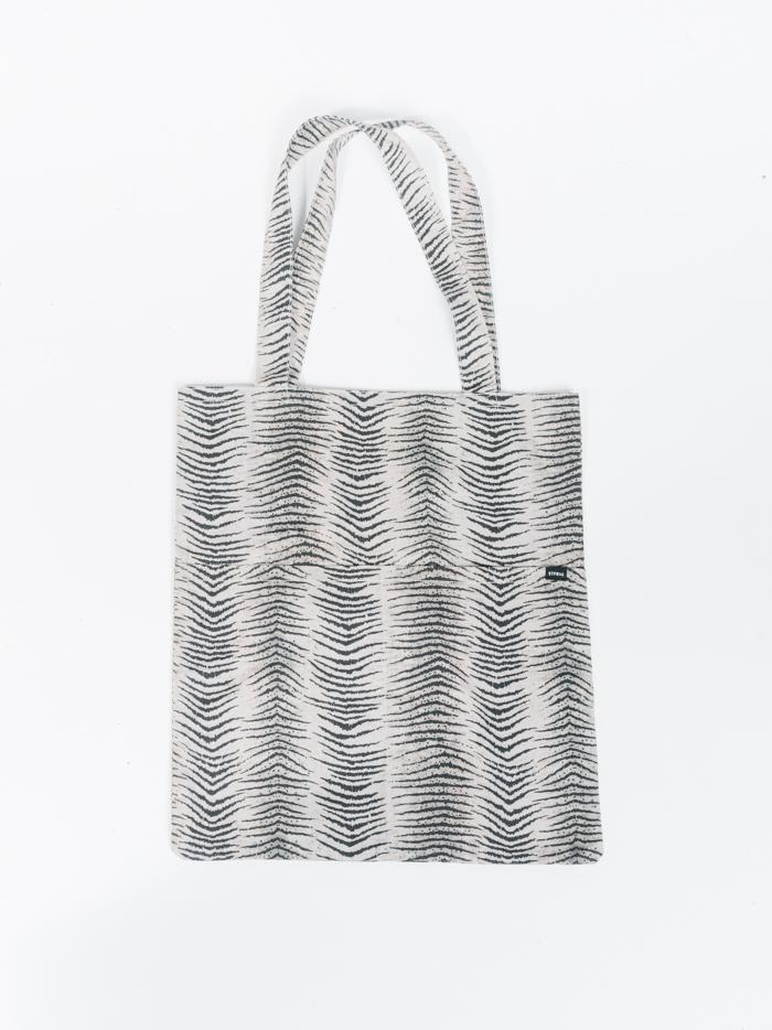 Zebra Lounge tote - Thrift White