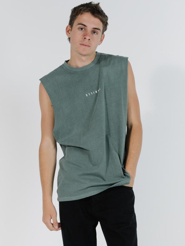 Minimal Thrills Merch Fit Muscle Tee - Lume Green