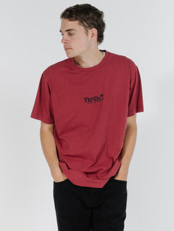 Palm of Thrills Merch Fit Tee - Brick Red