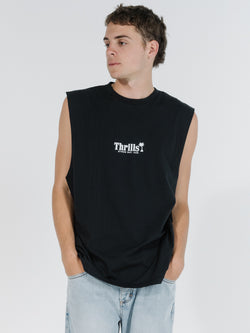 Palm of Thrills Merch Fit Muscle Tee - Black