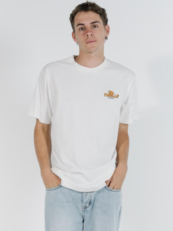 Burner Merch Fit Tee - Dirty White