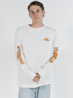 Burner Merch Fit Long Sleeve Tee - Dirty White