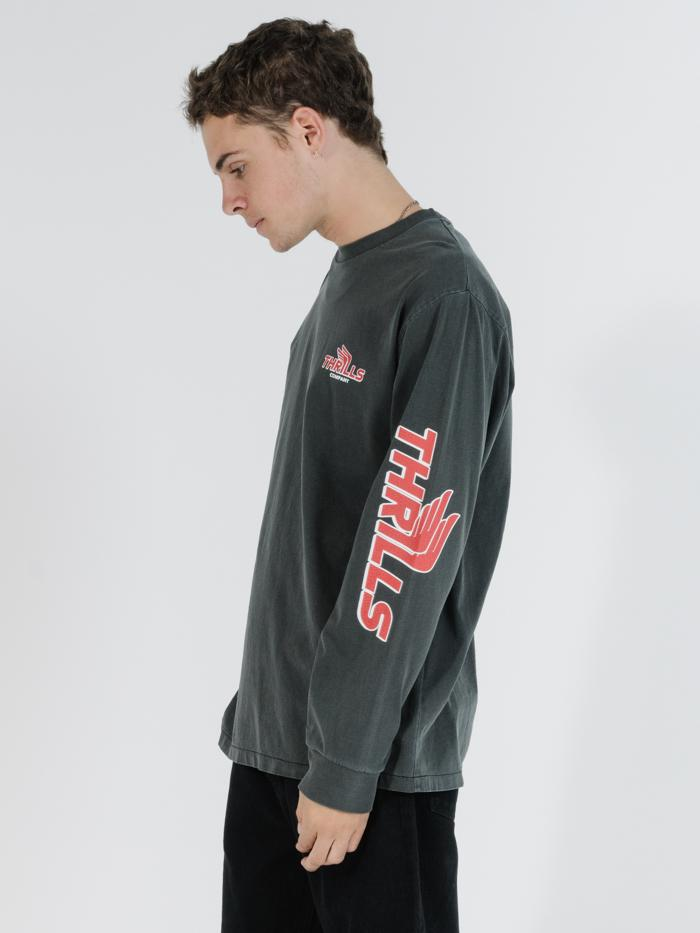 Burner Merch Fit Long Sleeve Tee - Merch Black