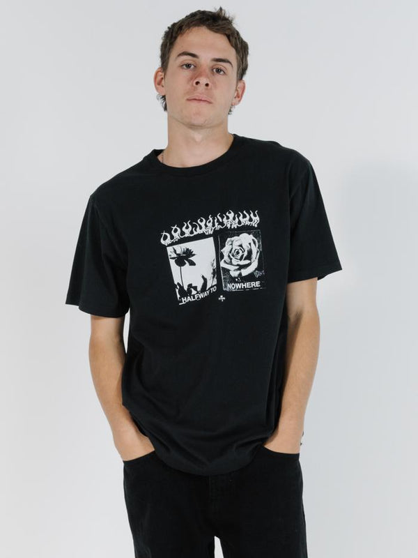 Flaming Moe Merch Fit Tee - Black