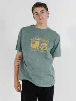 Flaming Moe Merch Fit Tee - Lume Green