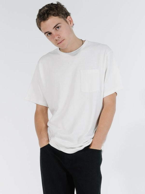 Republic Merch Fit Pocket Tee - Dirty White