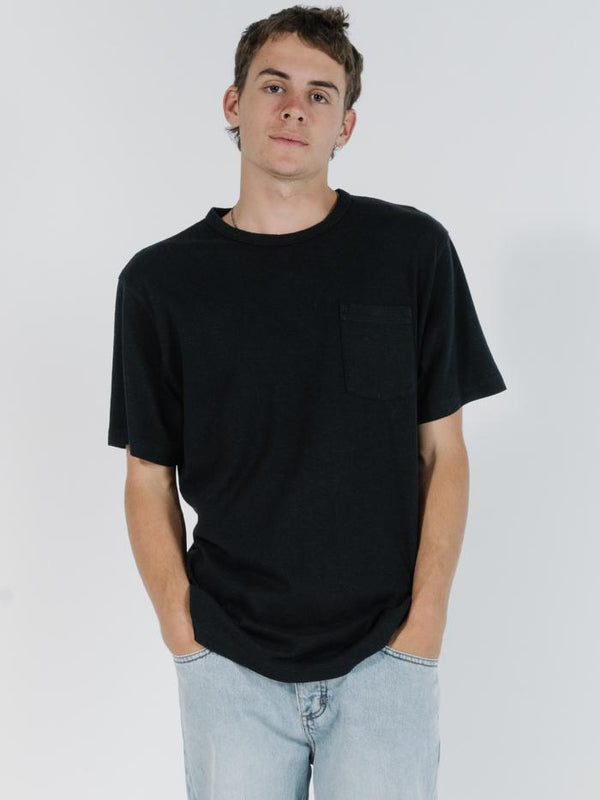 Republic Merch Fit Pocket Tee - Black