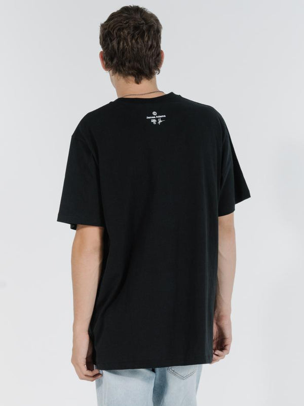 Political Free Fall Merch Fit Tee - Black