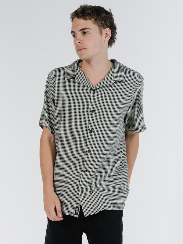 Quad Check Bowling Shirt - Black