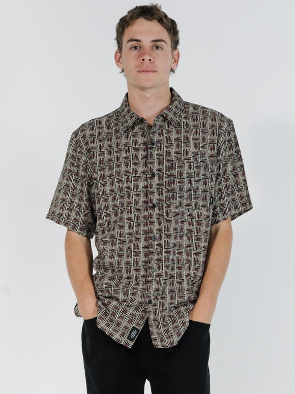 Disclosure Short Sleeve Shirt - Tan