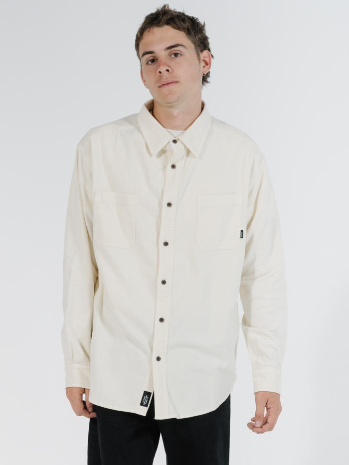 Found Oversized Long Sleeve Shirt - Natural