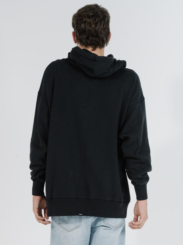 Minimal Thrills Slouch Pull On Hood - Black