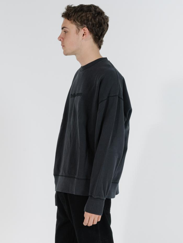 Tonal Thrills Company Slouch Fit Crew - Heritage Black