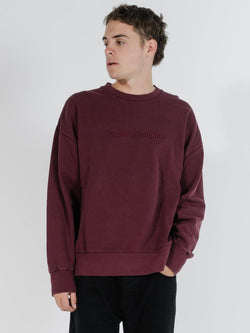 Tonal Thrills Company Slouch Fit Crew - Windsor Wine