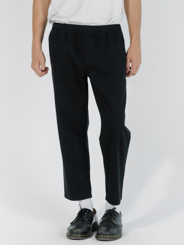 Minimal Thrills Work Chopped Elastic Surf Pant - Black