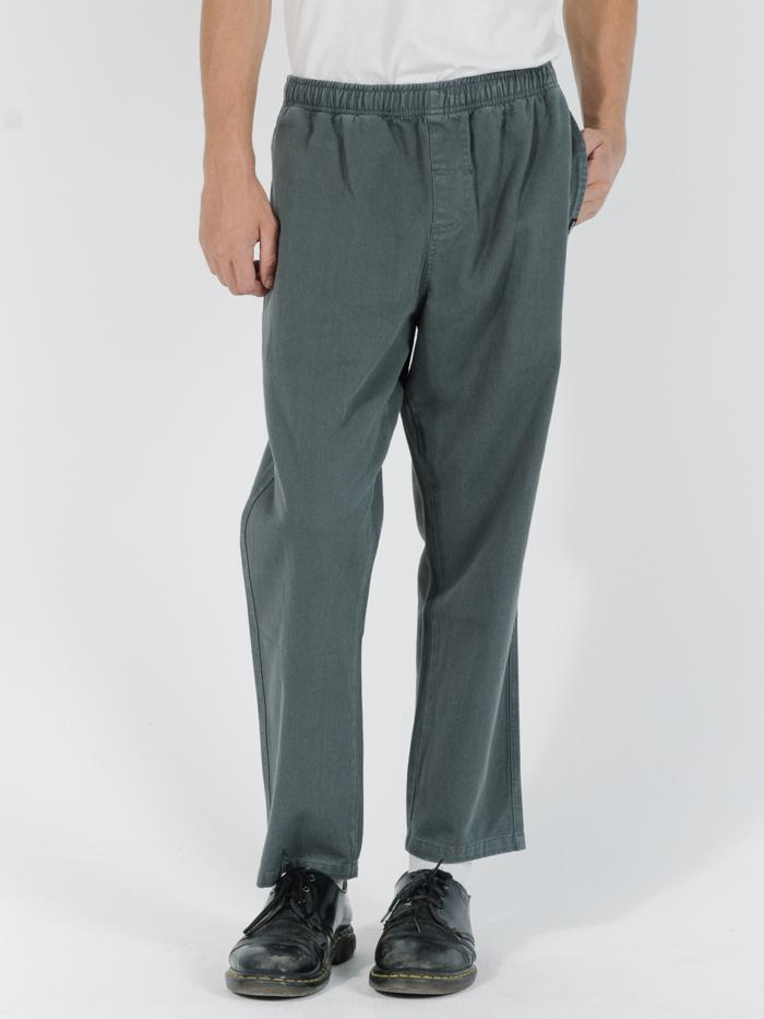 Minimal Thrills Work Chopped Elastic Surf Pant - Lume Green