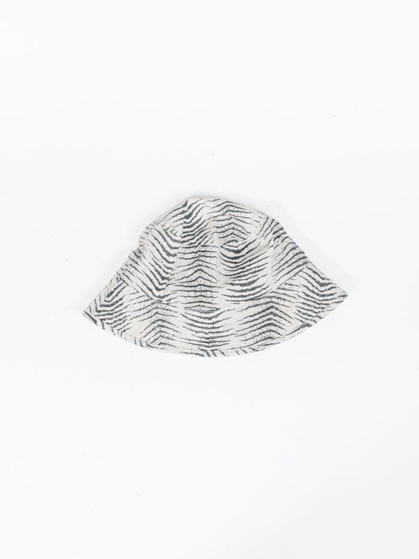 Zebra Lounge Bucket Hat - Thrift White