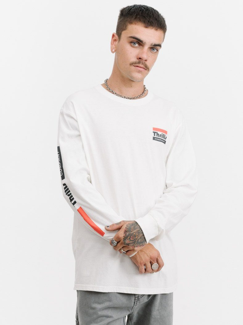 Power Long Sleeve Tee - Dirty White