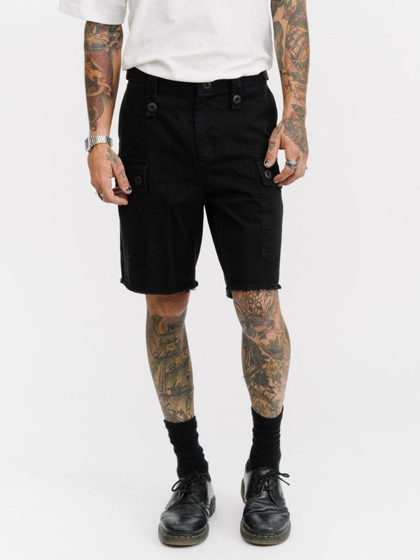 Fatigue Cargo Short - Vintage Black