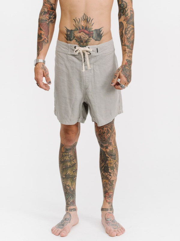 "Military Patch 16"" Boardshort - Faded Grey"