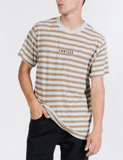 Commune Stripe Merch Fit Tee - Cement