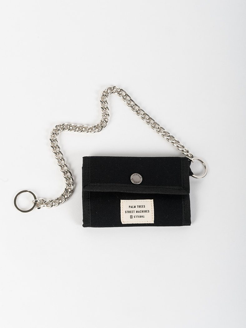 Waxed Chain Wallet - Black