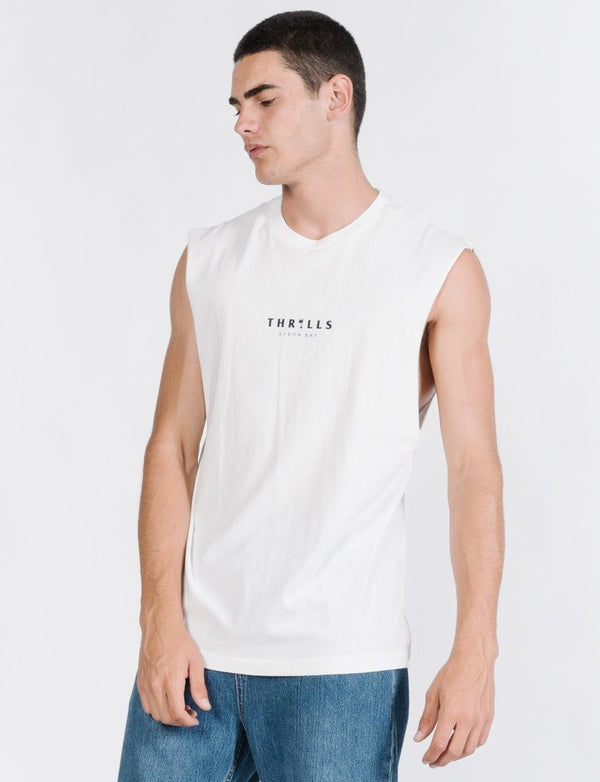 Palmed Thrills Merch Fit Muscle - White