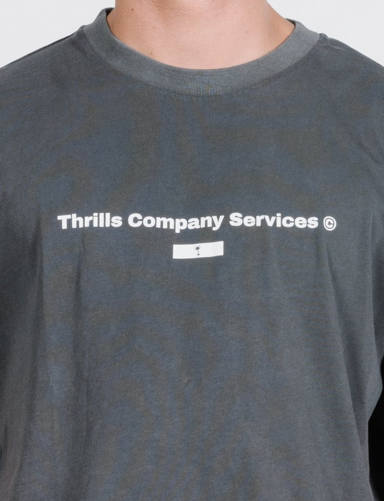 Thrills Company Services Merch Fit Tee - Merch Black