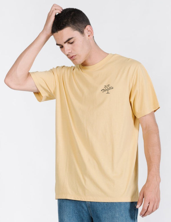 Scrolling Palm Merch Fit Tee - Heritage Yellow