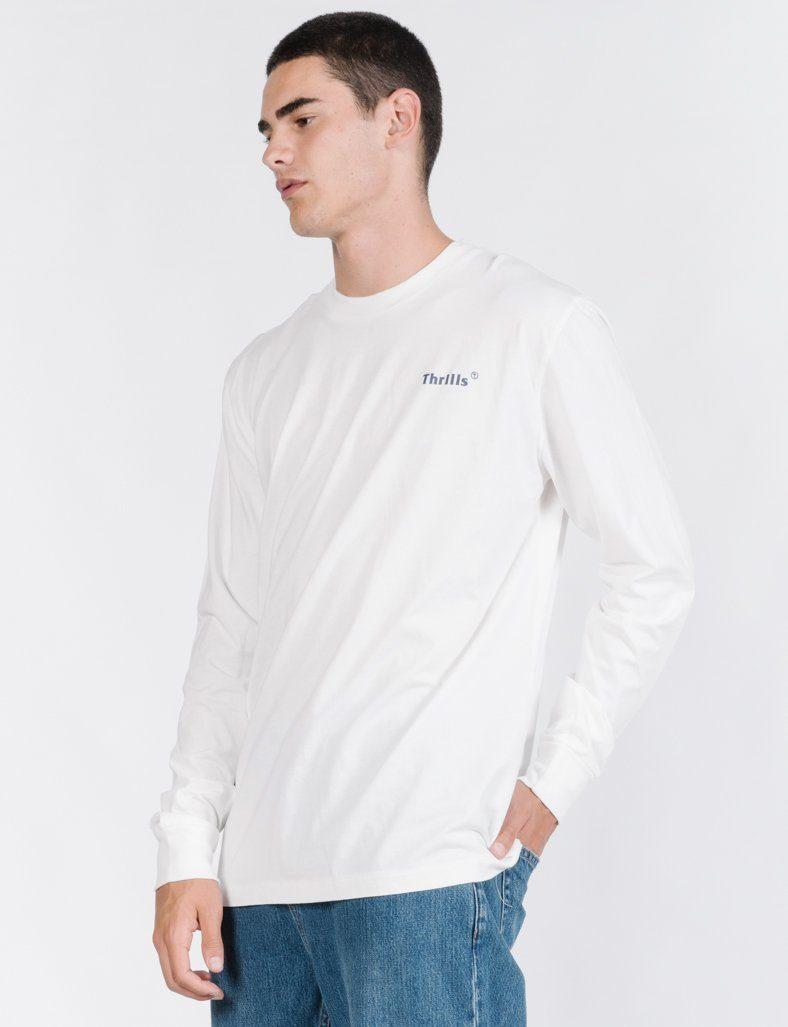 Strictly Thrills Long Sleeve Tee - White