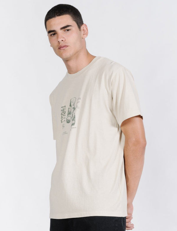 Tiki Lounge Merch Fit Tee - Tiki White