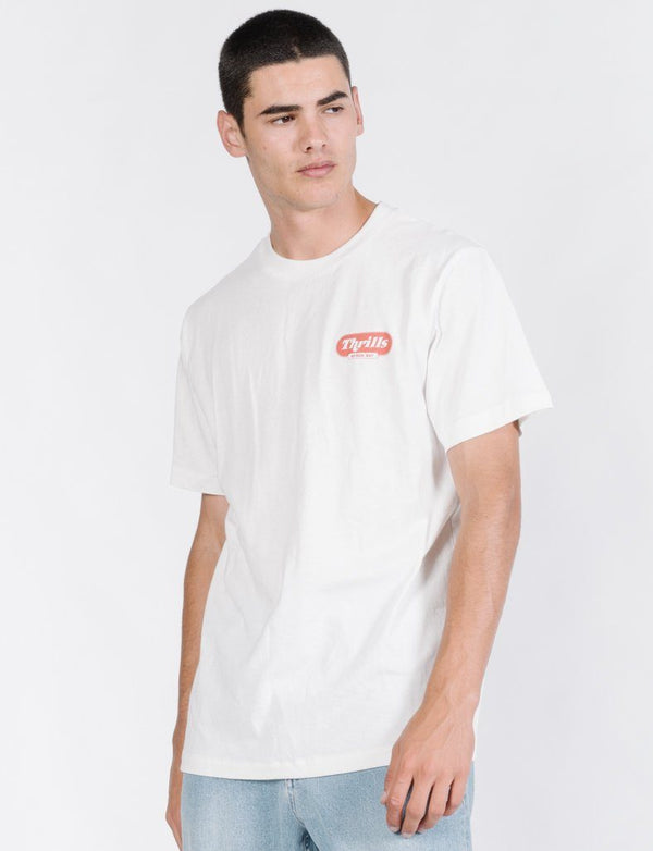 Thrifty Merch Fit Tee - Dirty White