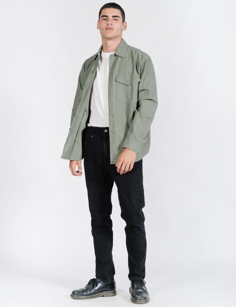 Deploy Oversize Ls Shirt - Jungle Army