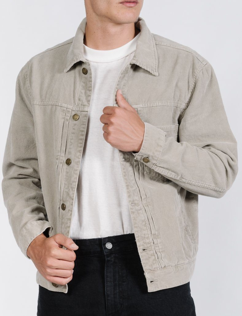 Stranded Cord Jacket - Dusty Sage