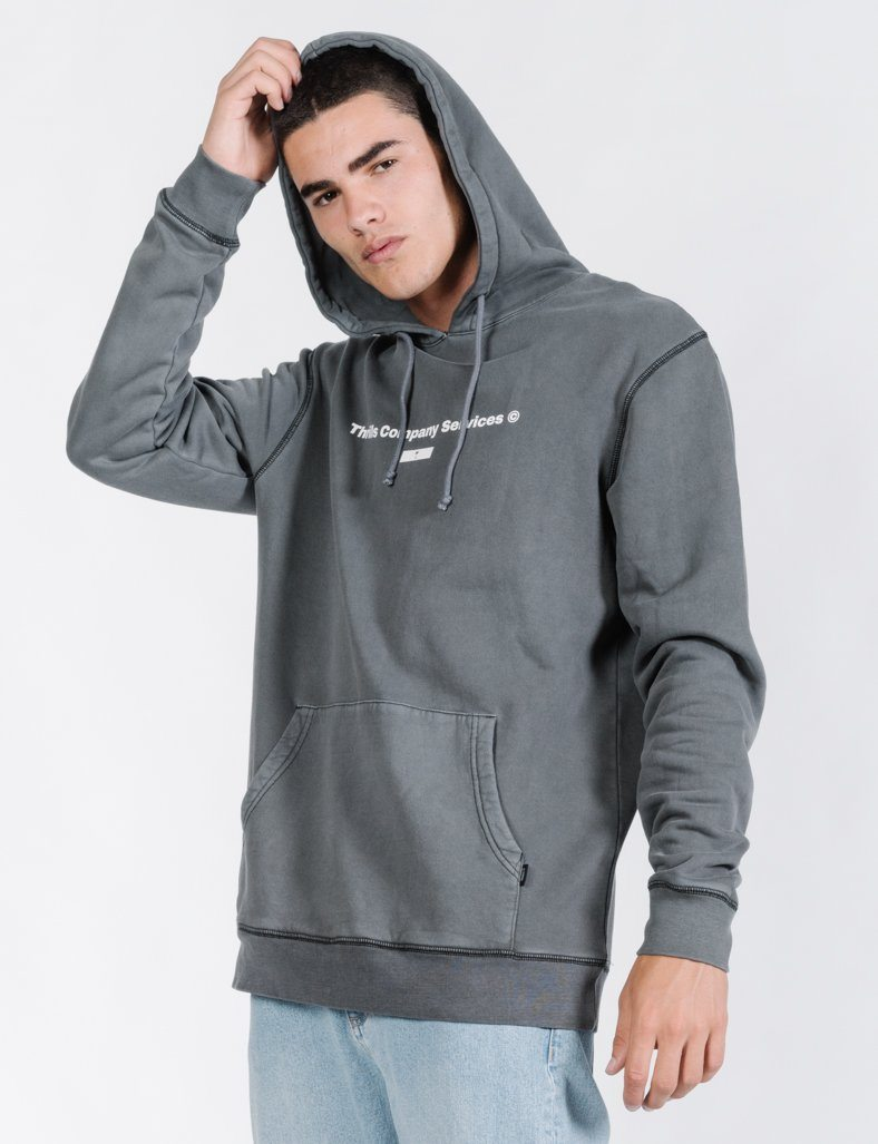 Thrills Company Services Pull On Hood - Merch Black
