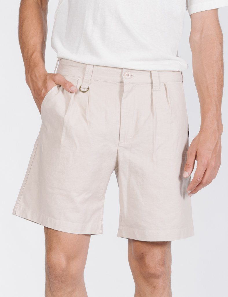 Deploy Pleated Military Short - Sand Dust