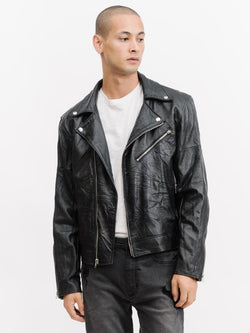 Recycled Leather Stranger Jacket - Black