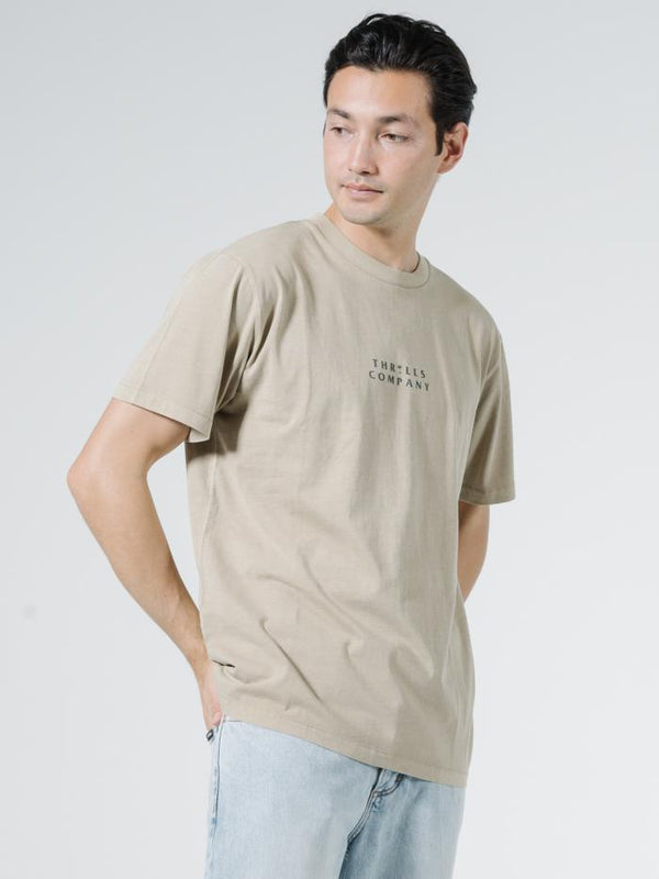 Palmed Thrills Company Merch Fit Tee - Washed Tan
