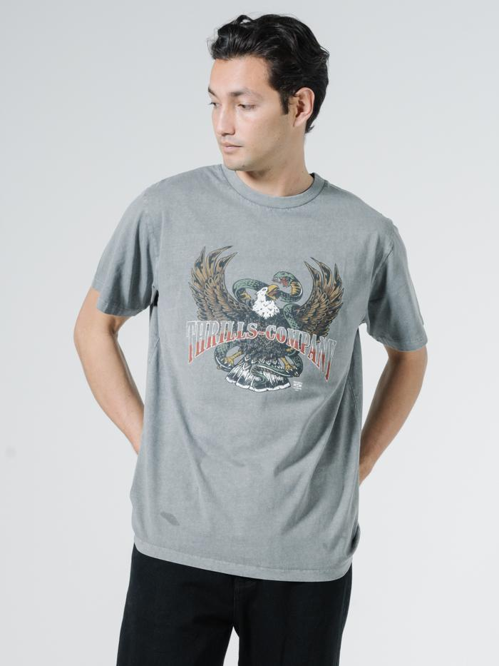 Retribution Merch Fit Tee - Washed Grey