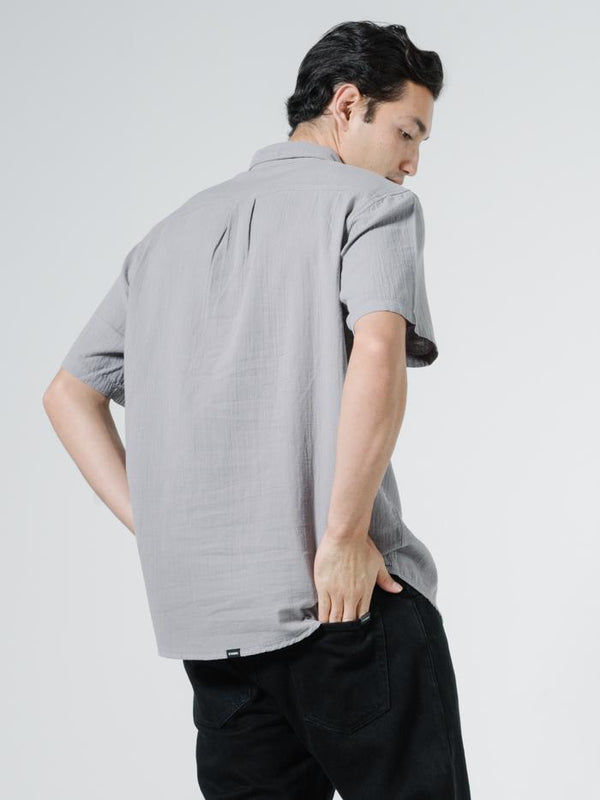 Dril Short Sleeve Shirt - Washed Grey