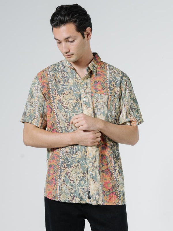 June Street Blues Short Sleeve Shirt - Cream